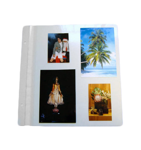 133-R - 10x11 3/4 Peel Back Magnetic Style Pages.  Package consists of 12 sheets plus extension posts.