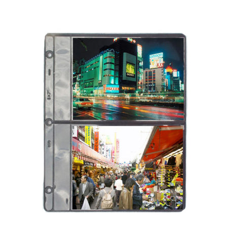 161-B - 8 1/2 x 11 Sheet Holds Four 5x7 Photos Per Sheet.  Each package consists of 12 sheets.