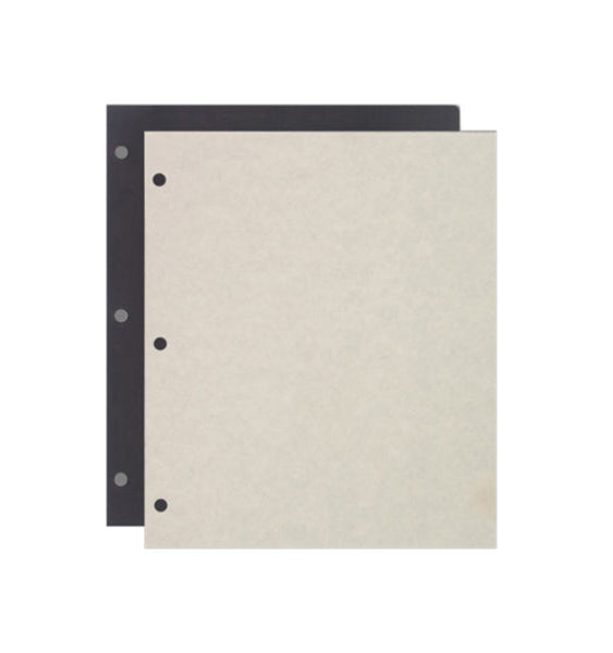 161-D - 12 Heavy Weight Black Scrapbook Pages With 12 Off-White Parchment-like Cover Sheets.