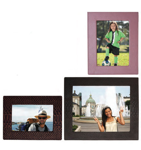 192 - 8 x 10  Square Edge Leather Frame