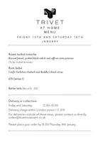 Trivet at Home with Quartz Fume, Sauvignon Blanc - 15th and 16th January