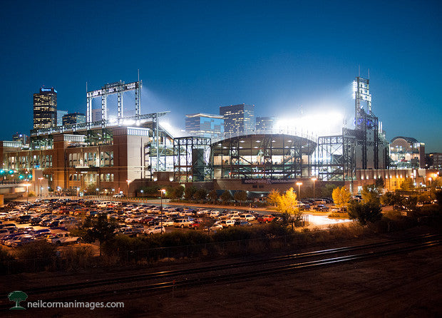 Coors Field and the Denver Skyline