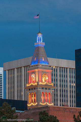 Broncos Colors in the Denver Skyline