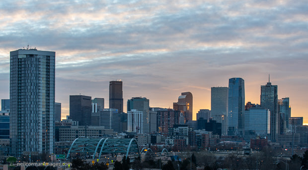 Denver Skyline Sunrise in 2021