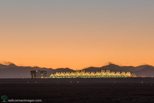 Sunset at Denver International Airport