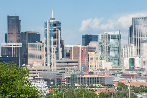 Skyline of Denver in the Spring
