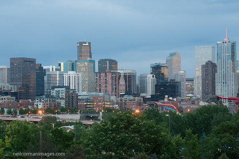 Denver Skyline on a Spring Evening