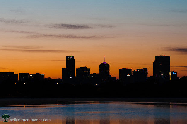 Denver Sunrise from Sloans Lake in 2012