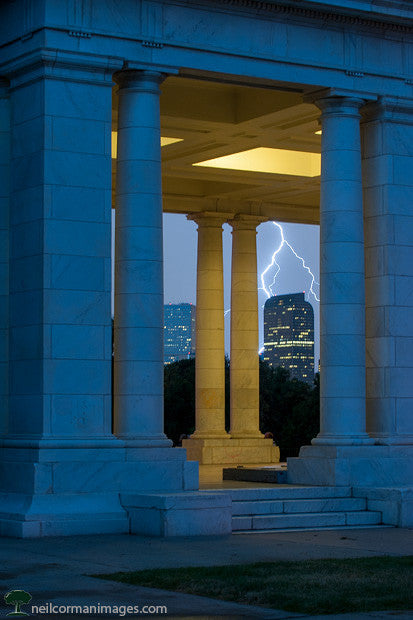 Storm in Denver from Cheesman Park
