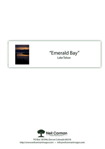 Emerald Bay Sunrise Note Card