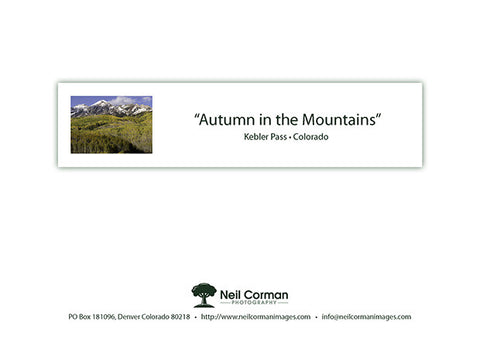 Autumn in the Mountains Note Card