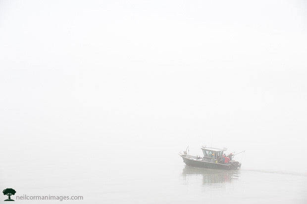 Boat on a Foggy Juneau Day
