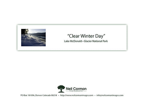 Clear Winter Day Note Card