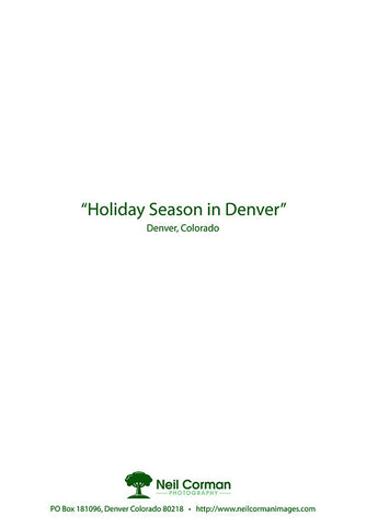 Holiday Season in Denver - Holiday Card