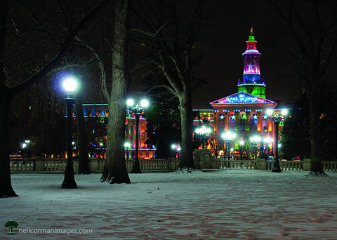 Holidays through Civic Center Park<br />Holiday Cards