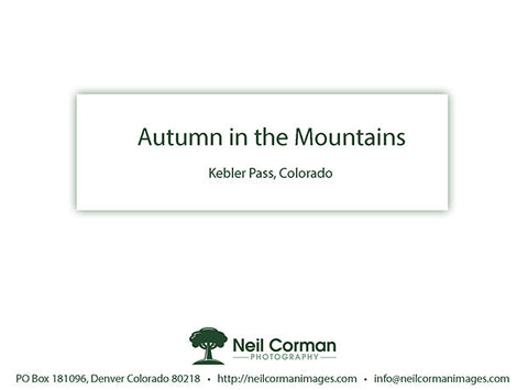 Autumn in the Mountains<br />Thank You Cards