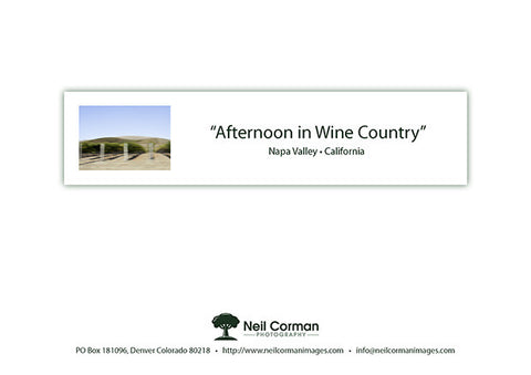 Afternoon in Wine Country Note Card