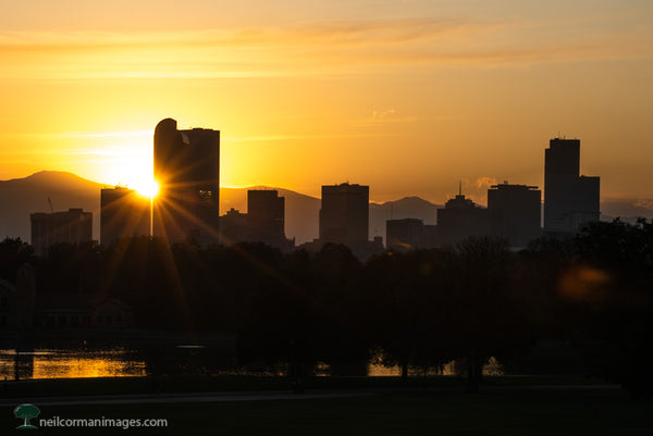 October Sunset in Denver