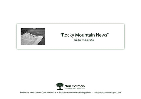 Rocky Mountain News Note Card