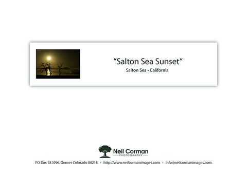 Salton Sea Sunset Note Card