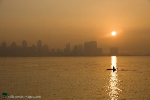 Sunrise along San Diego Bay