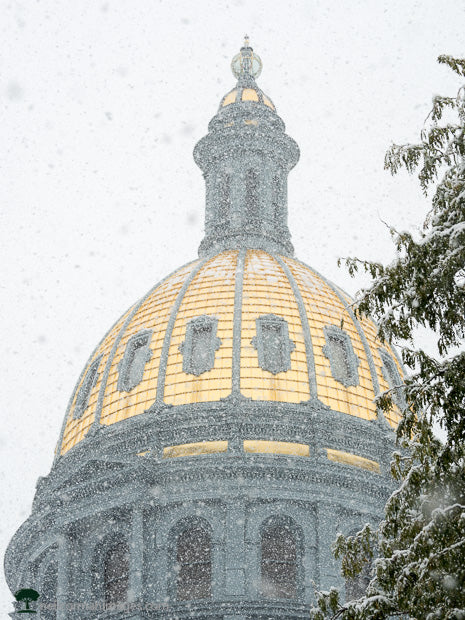 Snow and the Colorado Capitol Dome