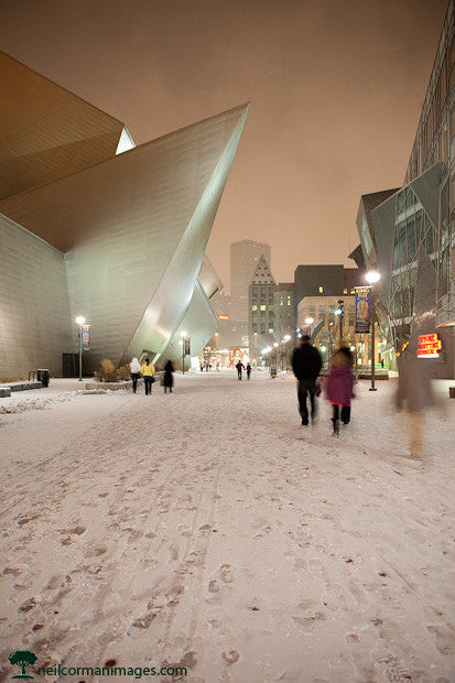 Snow at the Denver Art Museum