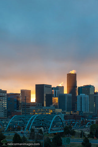 Sunrise through Denver