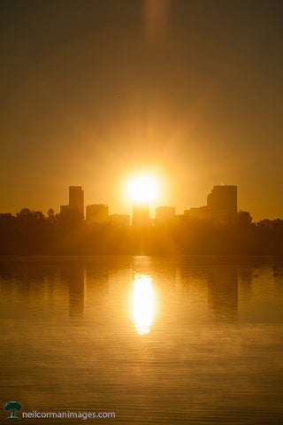 Sunrise in Denver from Sloans Lake