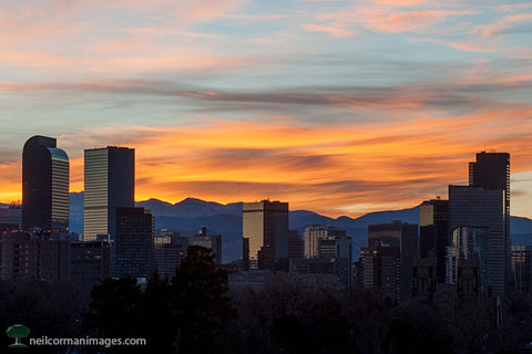 Sunset from City Park in Denver