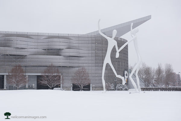The Dancers in Winter Snow