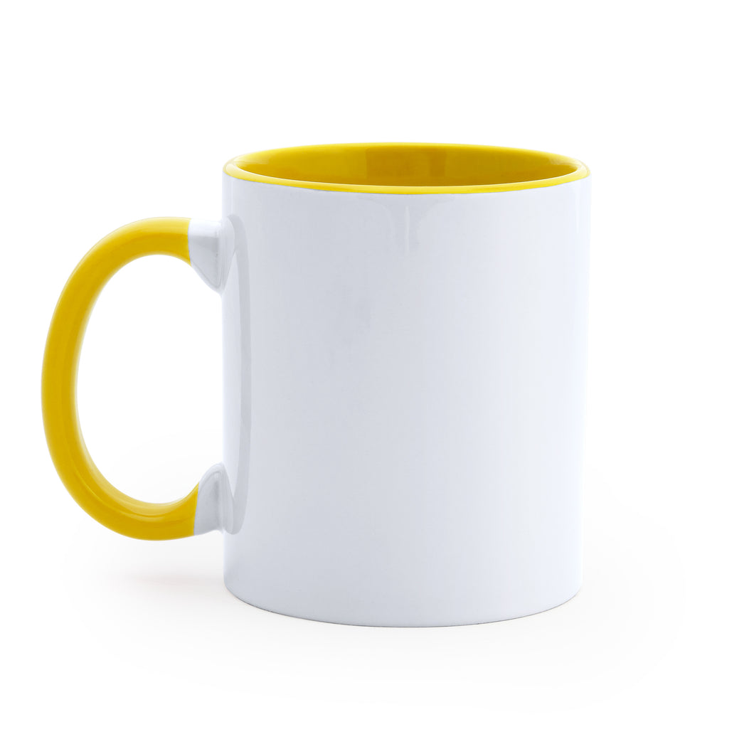 Taza bicolor 350 ml personalizada / +6 colores