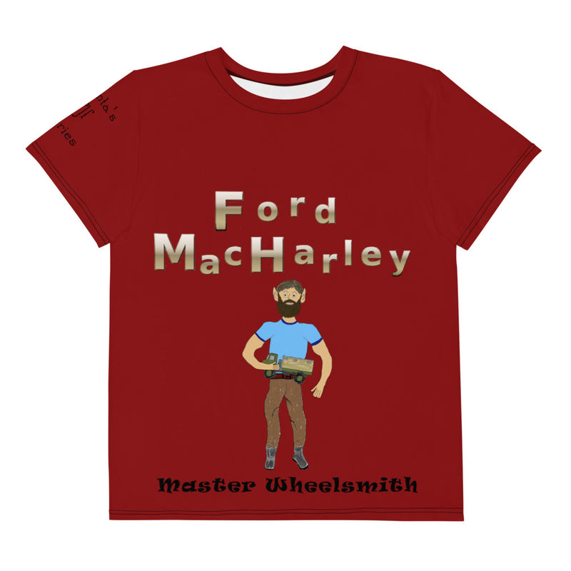 Ford Maroon Youth Crew Neck T-Shirt
