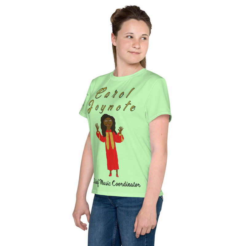 Carol Green Youth crew neck t-shirt