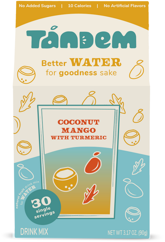 Coconut Mango with Turmeric - Tandem - Delicious, Premium Flavor for Water
