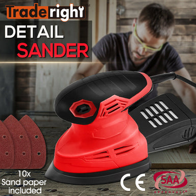 Traderight 200W Electric Sander 10 Sandpapers Only