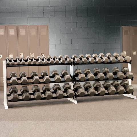 K2 WRS - Heavy Duty Dumbell Rack - 5' or 10', 2 or 3 Tier