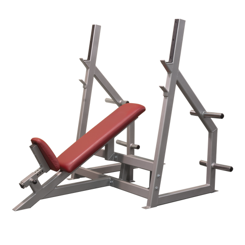 Denali Pro Plus Olympic Incline Bench with optional Plate Holders
