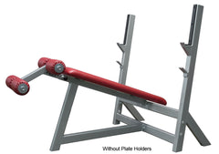 Denali Pro Plus Olympic Decline Bench with optional Plate Holders