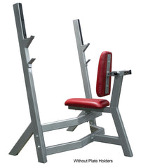 Denali Pro Plus Olympic Military Bench with optional Plate Holders