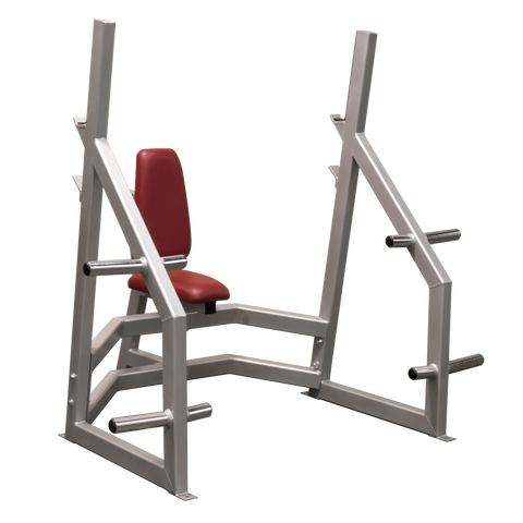 Denali Pro Olympic Military Bench with optional Plate Holders