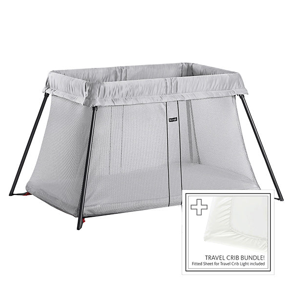 Travel Crib: BabyBjörn Light Bundle with Fitted Sheet