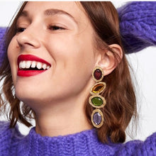 Load image into Gallery viewer, Long Drop Colourful Earrings