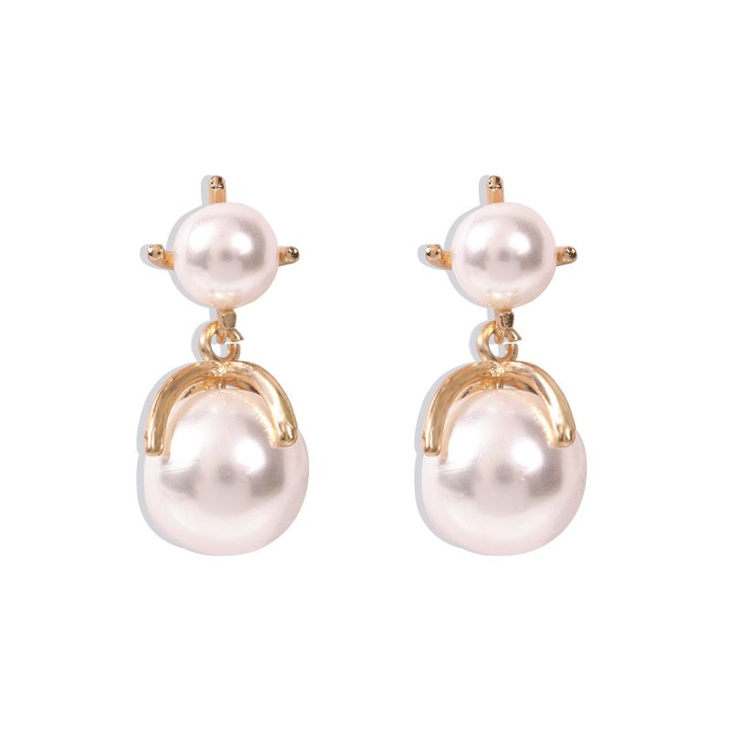 Dual Pearl Earrings