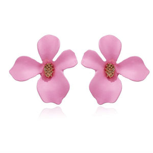 Flower Stud Earrings Pink