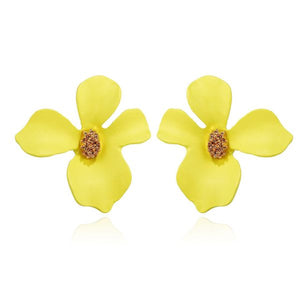 Flower Stud Earrings Yellow