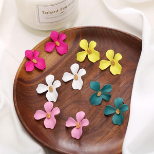 Flower Stud Earrings (Variable Colours)