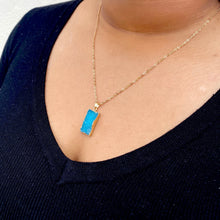 Load image into Gallery viewer, Crystal Stone Pendant Necklace in Blue