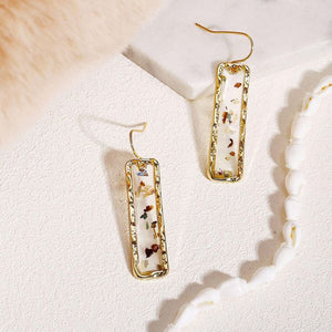 Retro Flake Earrings in Gold
