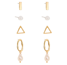 Load image into Gallery viewer, Four Pack Essential Earrings with Pearls